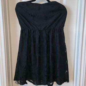 Deb Short Strapless Lace Dress